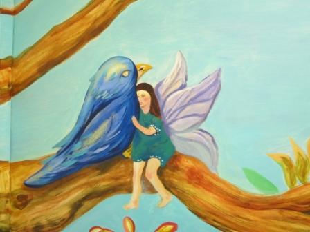 Hada y pájaro Azul